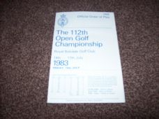1983 Open Golf Championship Order Of Play